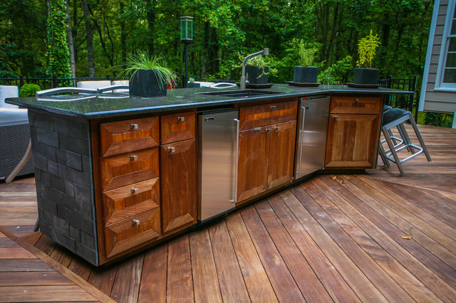 Superbe Outdoor Kitchen Contemporary Patio