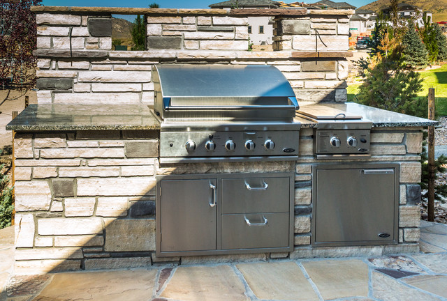 Outdoor kitchen traditional patio denver by for Traditional outdoor kitchen designs