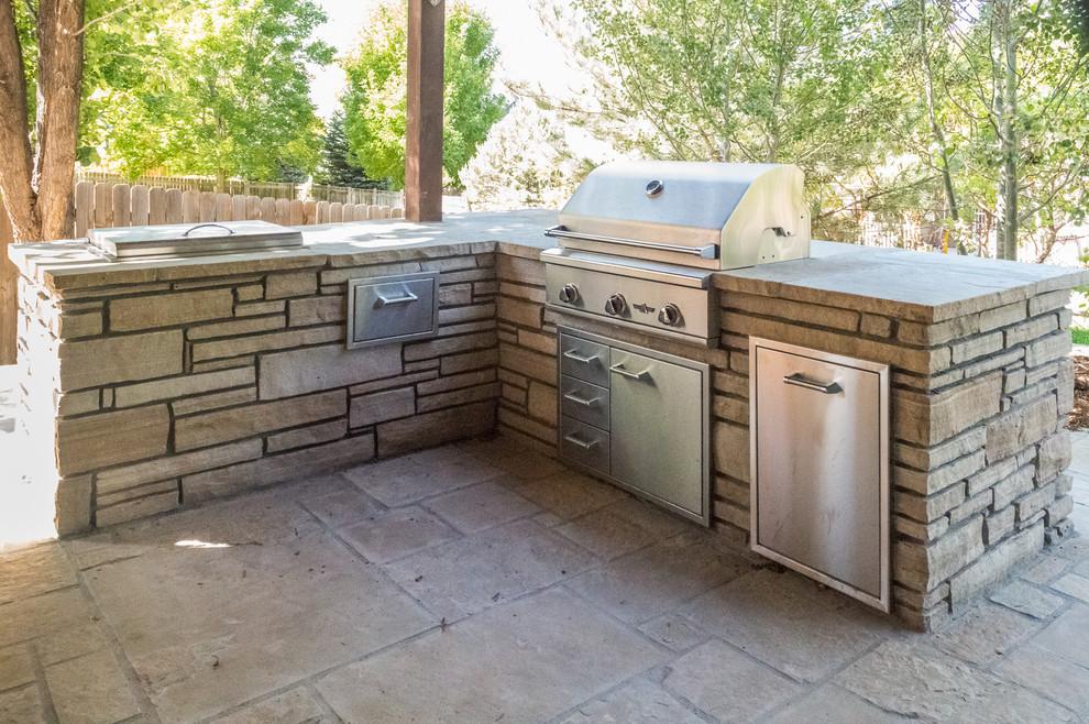 Outdoor Kitchen Traditional Patio Denver By Colorado Outdoor Living Design Sales
