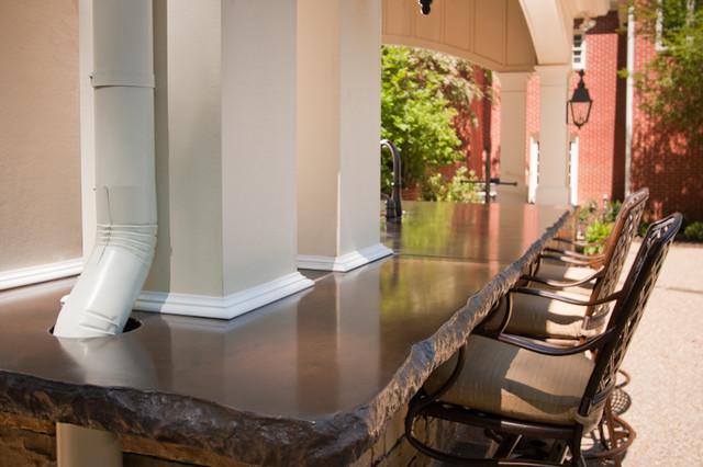 Outdoor Kitchen Concrete Countertops Contemporary Patio