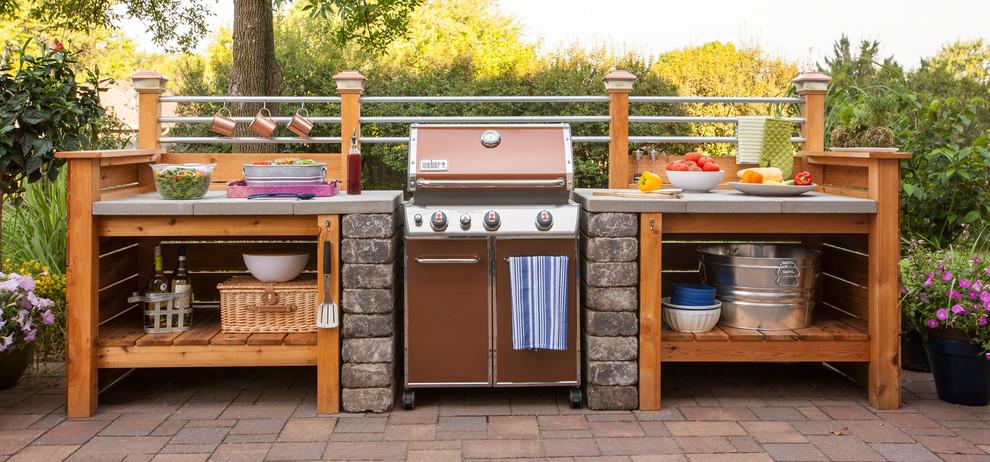 Outdoor Kitchen Industrial Patio Other By Degoey Designs Houzz
