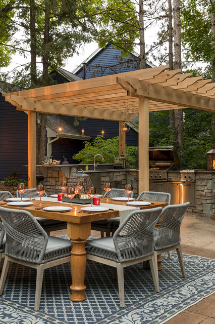 Outdoor Kitchen Dining Area And