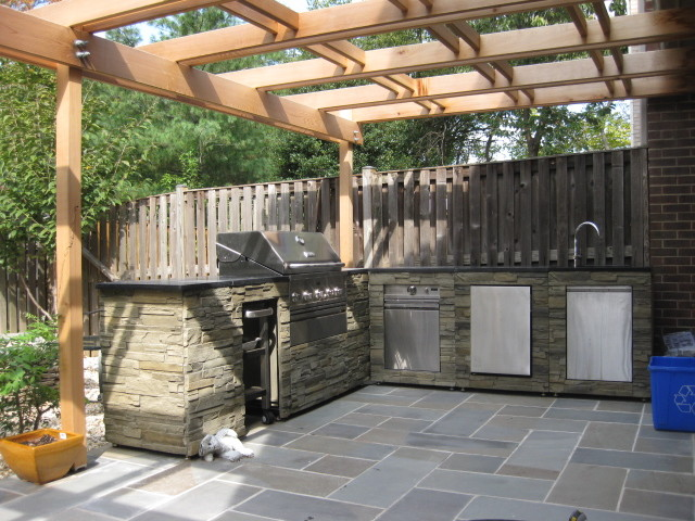 Outdoor kitchen traditional patio dc metro by fa for Traditional outdoor kitchen designs