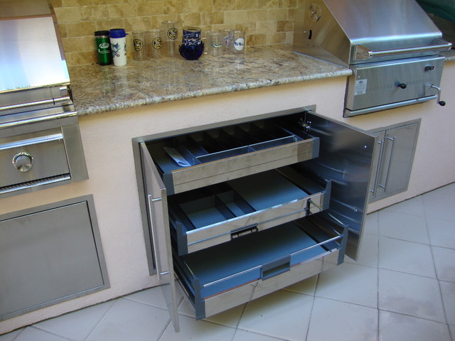 outdoor kitchen grill traditional patio miami by tropical