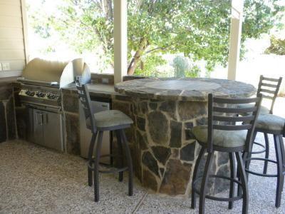 Outdoor Kitchen in Cedar Park traditional-patio