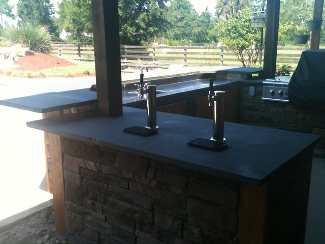 Outdoor Kitchen In St Augustine Fl Rustic Patio Jacksonville By Cascade Outdoor Design