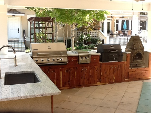 Outdoor Kitchen Traditional Patio other metro by