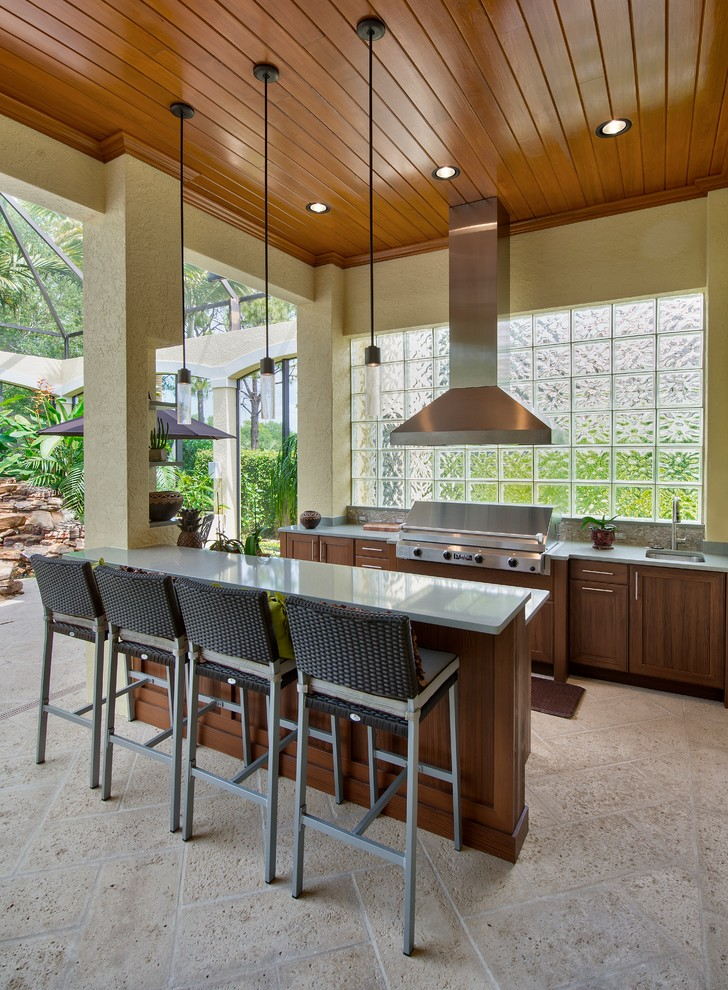 Outdoor Kitchen Naples Fl Traditional Patio Miami By The Lykos Group Inc