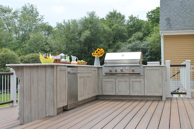 Outdoor kitchen norwell for Idee portico florida