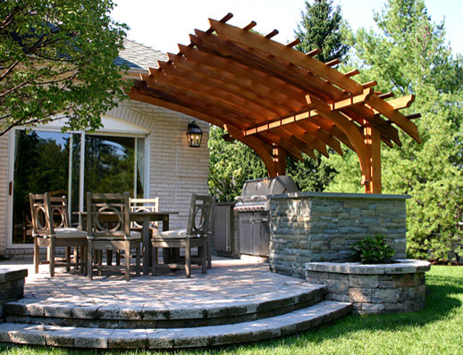 Outdoor Kitchen Pergolas - Traditional - Patio - boston - by Trellis