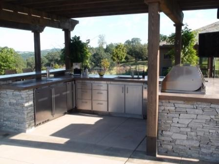 Outdoor Kitchen Sacramento Valley Modern Patio