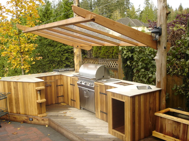 Outdoor kitchen traditional patio vancouver by sj for Outdoor kitchen ideas houzz
