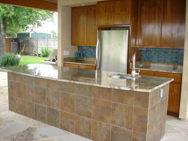 outdoor kitchen tile outdoor kitchen tile back splash bar tile granite 1309