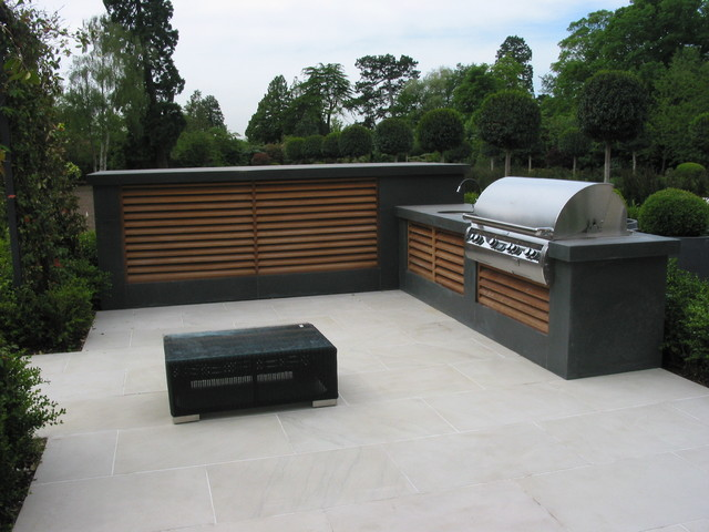 outdoor kitchen ventilation louvres contemporary