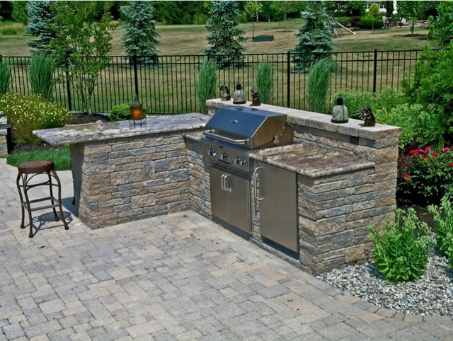 Outdoor Kitchen With Granite Countertops Traditional Patio Philadelphia By Landscape