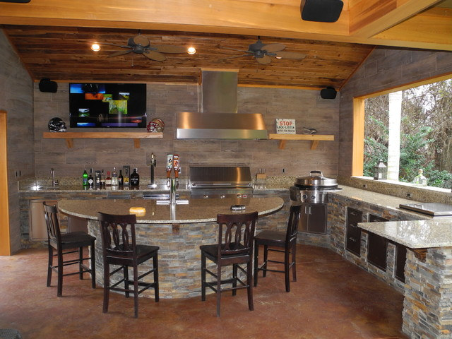 Outdoor Kitchen With Kegerator : Outdoor kitchen with solaire grill evo cooktop kegerator