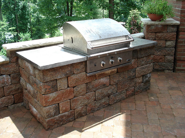 Landscape Block Wall Systems : Outdoor kitchens and bbq surrounds traditional patio