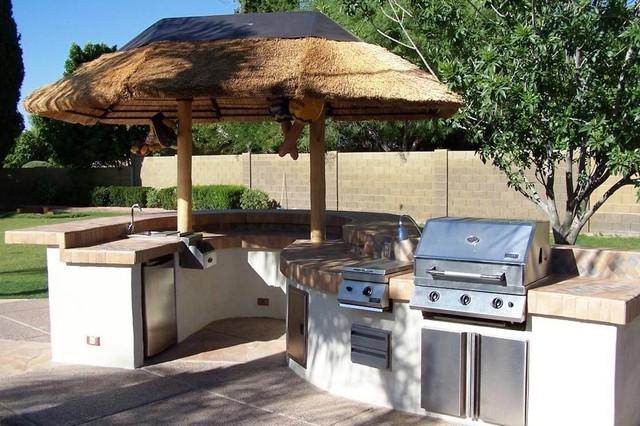 Outdoor kitchens bbq - Tropical outdoor kitchen designs ...
