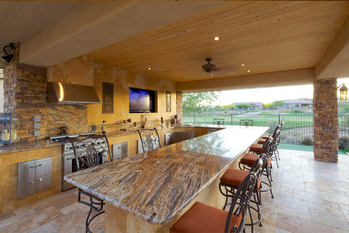 Outdoor Kitchens & BBQ traditional-patio