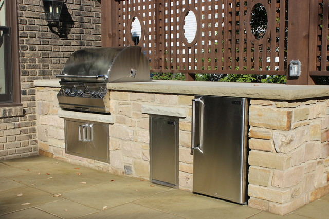 Outdoor kitchens transitional patio other metro by for Outdoor kitchen ideas houzz