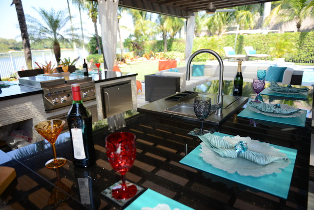 outdoor kitchens contemporary patio other metro by luxapatio