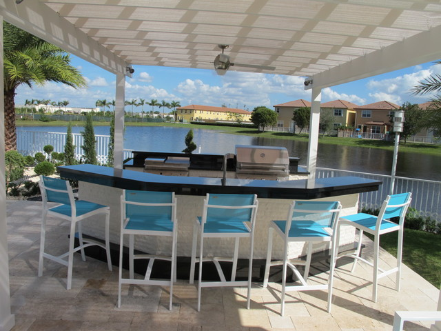 outdoor kitchens modern patio miami by luxapatio
