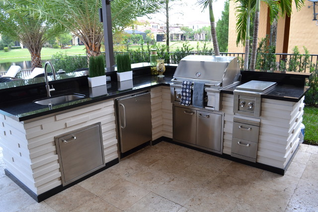 outdoor kitchens traditional patio miami by luxapatio