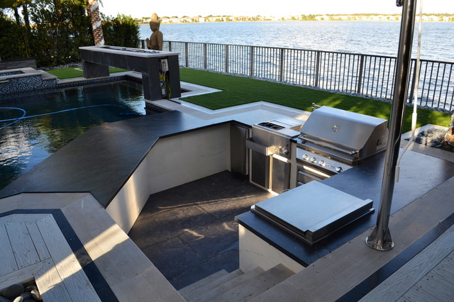 outdoor kitchens modern patio other metro by luxapatio