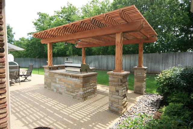 Outdoor Kitchens Pergolas Traditional Patio Dallas
