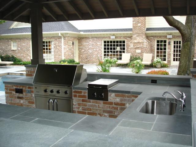 Outdoor Kitchens Traditional Patio Houston By Prewett Read Associates