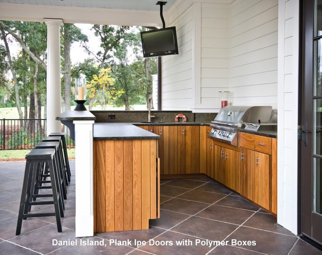 Outdoor kitchens tropical patio charleston by for Outdoor kitchen ideas houzz