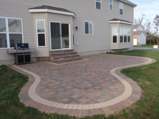 Landscaping Block Designs : Outdoor landscaping patio ideas traditional