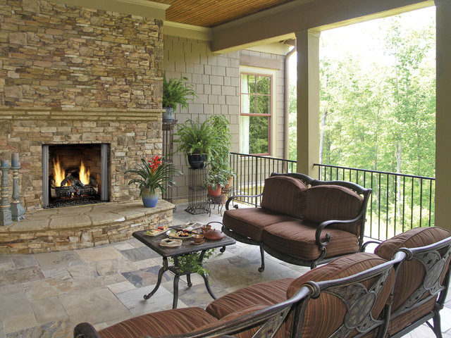 Outdoor Lifestyles Carolina Gas Fireplace traditional-outdoor-fireplaces