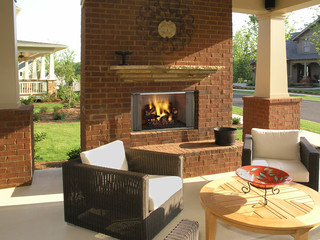 Outdoor Lifestyles Villawood Wood Fireplace with Optional Gas Log set
