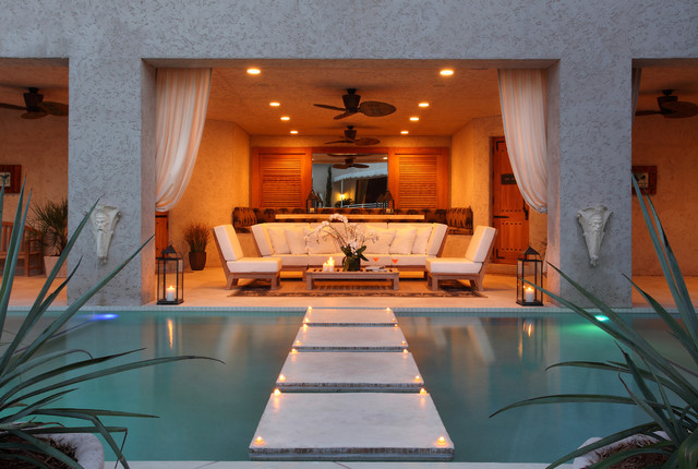 Outdoor living contemporary patio miami by brown s for Outdoor pool room ideas