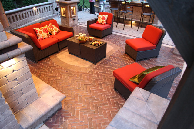 Outdoor Living/Patios, Paving, Flagstone & Stone contemporary-patio