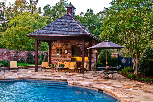 Outdoor Living Pool & Cabana Mediterranean Patio