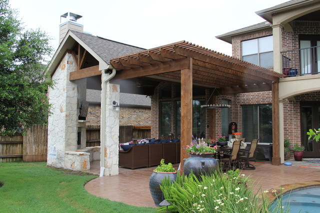 Outdoor Living Project: Patio cover with Fireplace ...