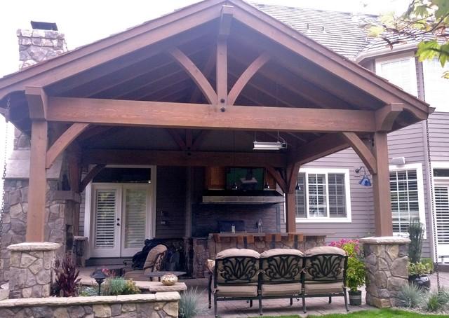 Outdoor Living Remodel in Lake Oswego, Oregon rustic-patio