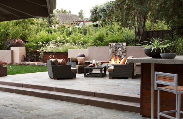 Outdoor Living Room Contemporary Patio