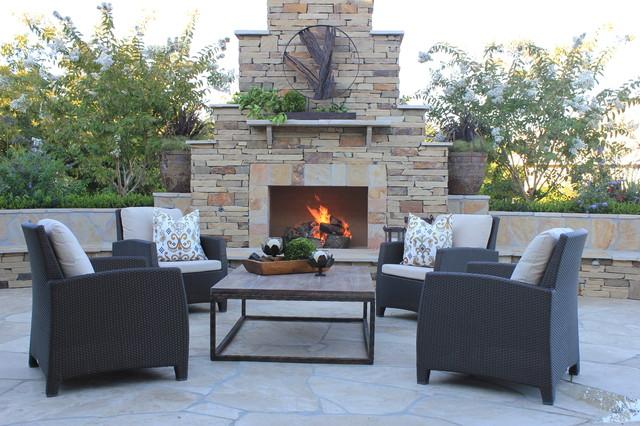 Outdoor Living Room Traditional Patio Sacramento by Atmosphere Design