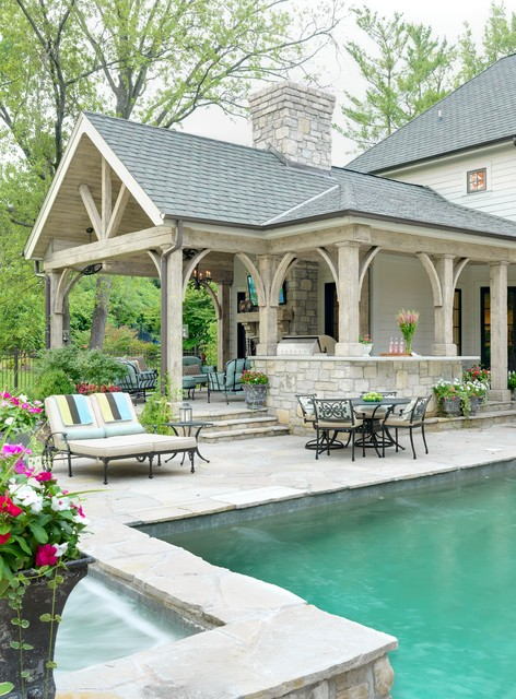 Outdoor Living Room Traditional Patio