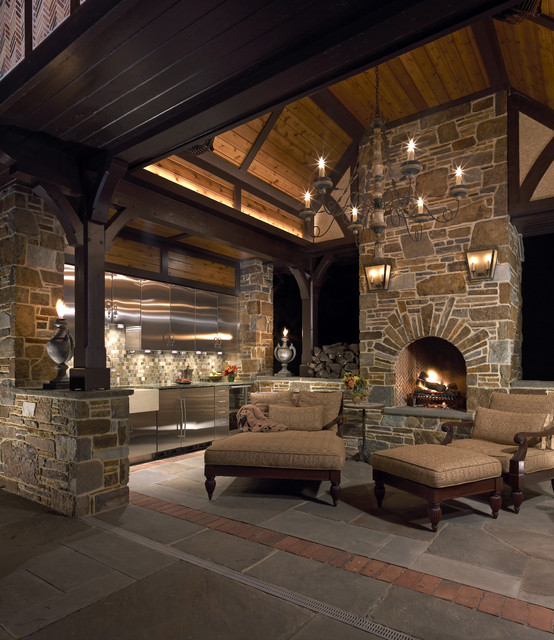 Outdoor Living Room - Traditional - Patio - philadelphia ... on Houzz Outdoor Living Spaces id=34000