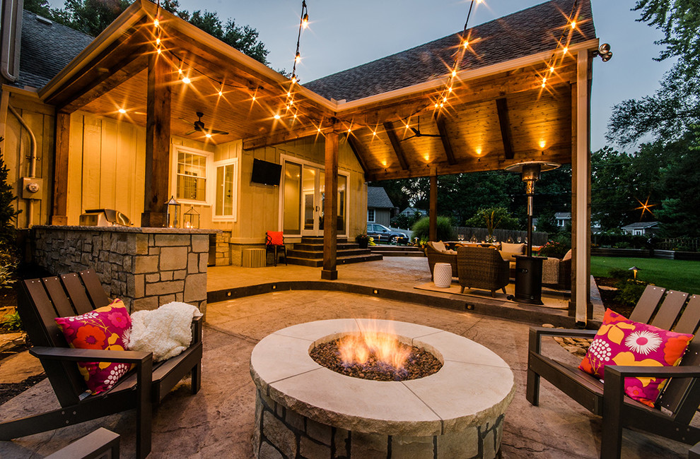 Outdoor Living Space - Rustic - Patio - Kansas City - by ... on Outdoor Living And Patio id=64055
