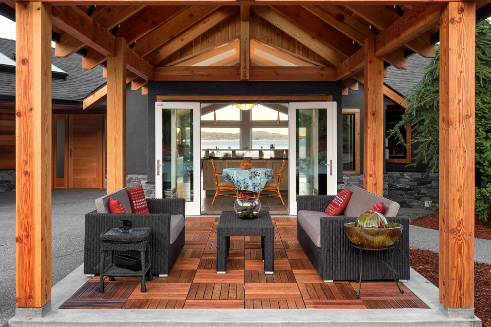 Outdoor Living Space - Rustic - Patio - Vancouver - by ... on Outdoor Living Ltd id=78282