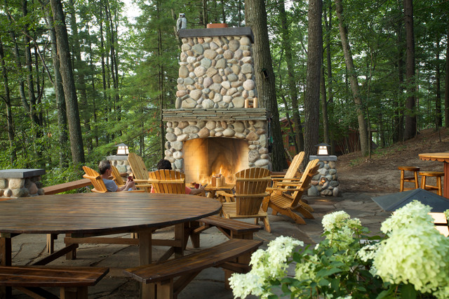Outdoor Living Space eclectic-patio