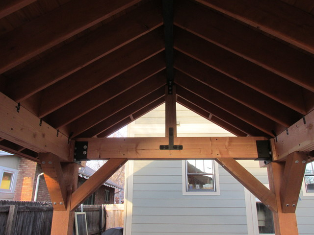 Outdoor Living Space Patio Cover Pergola With Roof