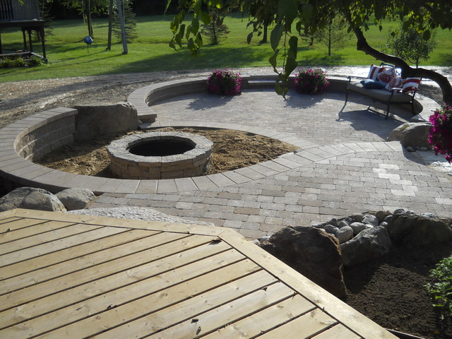 Outdoor living space with walkout basement addition Walkout basement deck designs