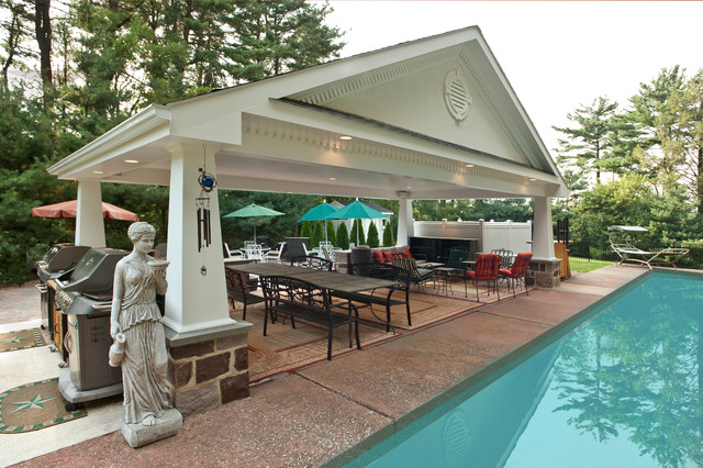Outdoor Living Spaces Covered Patio And Pool