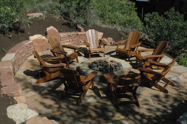 Outdoor living spaces rustic-patio